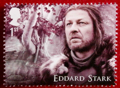 Game of Thrones: EDDARD STARK - FIRST CLASS ROYAL MAIL STAMP - MINT