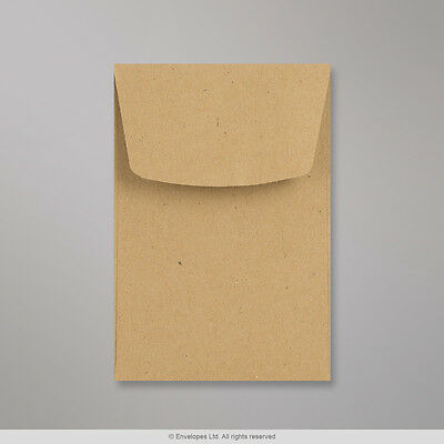 Small Brown Envelopes 98x67mm  Dinner Money Wages Coins Beads and Seeds  x 15