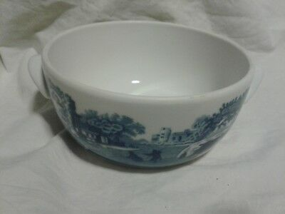 Spode Blue Italian Two Handled Bowl 12-6 Oven to Table c.1816 England