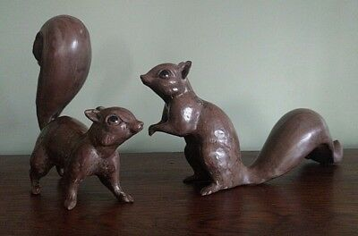 Pair of Squirrel figurines, Anthony Freeman-McFarlin, California Pottery c.1970