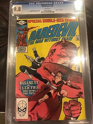 """Daredevil #181 CGC 9.8 White Pages - """"Death"""" of Elektra"""
