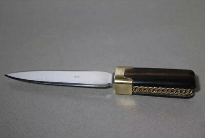 Hermes Letter Opener Knife Gold Tone Chain Collectible