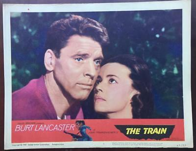 Close up of Burt Lancaster & Jeanne Moreau The Train 1965 # 5 lobby card 2287