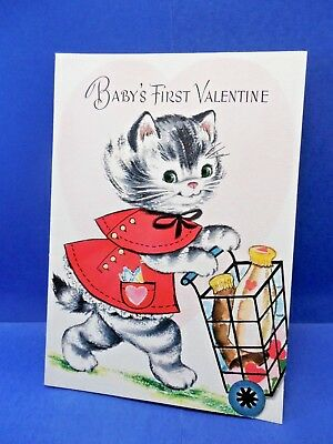 """Vintage  Unused Juvenile POP-OUT GIBSON """"BABY'S First Valentine"""" card w/env."""