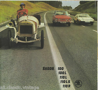 SKODA - S 100/S 100 L/S 110 L/S 110 R Coupe brochure/prospekt/folder Dutch 1976