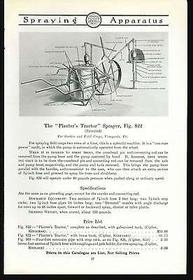 1918 Deming Pumps Catalog Page Ad Planters Tractor Sprayer Salem Ohio