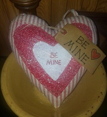 Primitive Valentine Heart Door/Cupboard Hanger