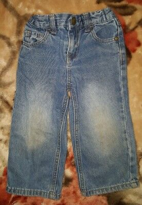 BOYS Sz 2 blue TARGET denim jeans COMFY! ADJUSTABLE WAIST!