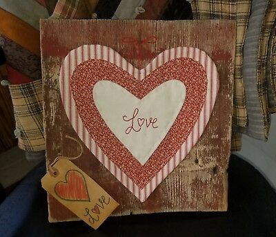Primitive Valentine Heart on Barn Board