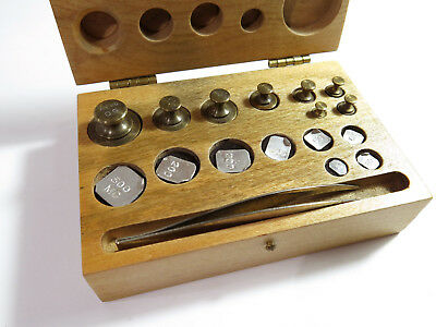 Complete Antique Henry Troemner Apothecary/Laboratory Metric Weight Set