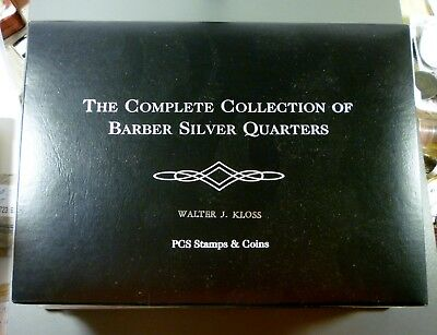 Complete Collection Of Barber Silver Quarters Postal Commemorative Society