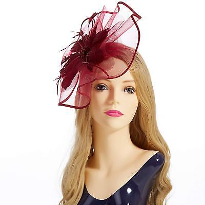 Fascinator Hat Feather Mesh Fascinator Hat Feather Mesh Net Veil Party Hat Gift