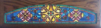 Antique American Stained/Jeweled Arched Transom, Saginaw, Mi.