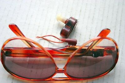 vintage sunglasses with built in FM radio-with original pouch