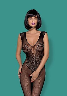 Women's Sexy Lingerie Body Stocking Open Crotch Floral Lace Fishnet Bodysuit