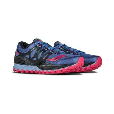 Saucony Womens Shoes Xodus ISO Denim Blue Running Shoes S10325-2 NEW