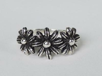 Sovats Women Three Leaf Flower Ring 925 Silver Ring Size 5-12 Nature Jewelry