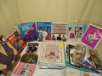 260+ Huge lot applique iron on fabric transfers sequin art + more kits and books