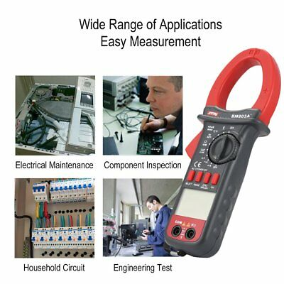 SZBJ BM803A+ Digital Clamp Multimeter AC/DC frequency temperature tester Ohm WQ