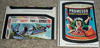Vintage Wacky Packages 14th Series 14 Topps ERROR Sticker Rebell Jet Promesso