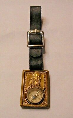 RARE 1920-30s ADV., TWINKIE'S SHOES HAMILTON BROWN SHOE CO., WATCH FOB W/COMPASS