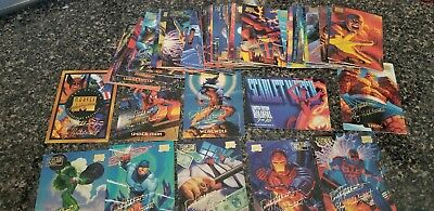 60 diff card lot from 1994 Marvel Masterpieces Gold Foil Signature with Holofoil