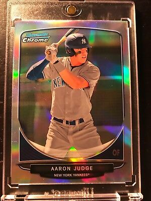 2013 Bowman Chrome Aaron Judge Refractor Rookie Non Auto Surface Blemishes