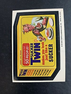 1975 Topps Wacky Packages Original 16th Series 16 SUCKER TWIN