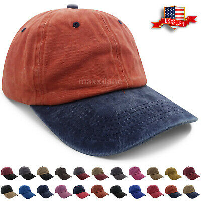 Baseball Cap Washed Cotton Pigment Dyed Polo Style Plain Adjustable Ball  Dad Hat 1b9d165ca271