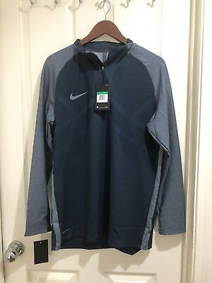 960e394f NIKE Strike Aeroswift 1/4 Zip Blue Long Sleeve Soccer Football Shirt NEW  Mens XL