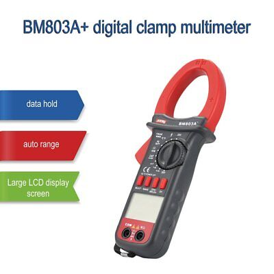 SZBJ BM803A+ Digital Clamp Multimeter AC/DC frequency temperature tester Ohm WS