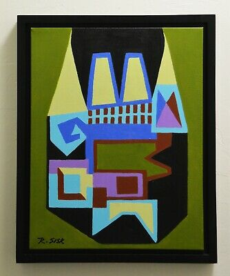 Mid-Century Modern Style Abstract Painting #3 ~ Professionally Framed