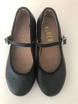 Bloch Black Tap Shoes girls size 10.5 Used Leather