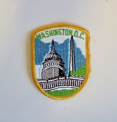 Vintage NOS Embroidered Patch Washington DC Monument Peace Capitol USA Sew On