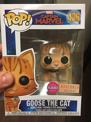 Funko Pop! Goose the Cat Flocked Captain Marvel Box Lunch Exclusive