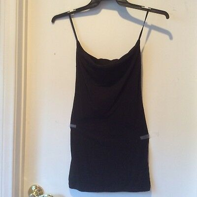 a6534c34074 Free People Intimately Black Long Tank Strapless Open Back NWOT Cotton Size  S P