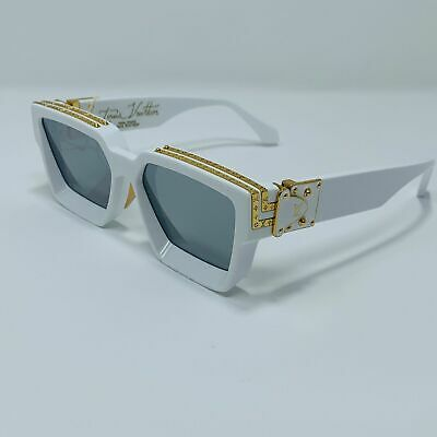 5da65f27c4c Louis Vuitton X Virgil Abloh 1.1 Millionaire WHITE Sunglasses Z1166E New