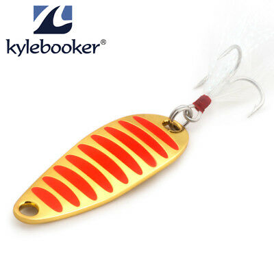KyleBooker Simulated Fishing Lure Spoons Gold Silver Spoon Hard Metal Lure