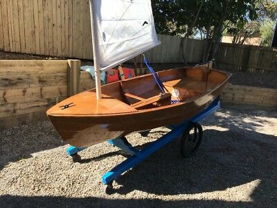 50 year old - 9ft Hand made solid timber sailing boat / dingy / sabot