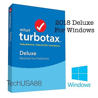 WINDOWS Intuit TurboTax DELUXE 2018 [DOWNLOAD Version] Include STATE Forms
