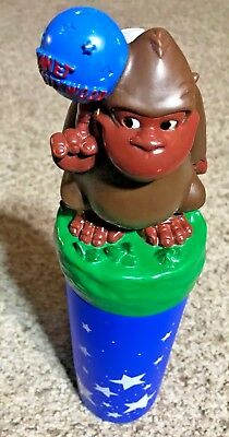 """Vintage Planet Hollywood Gorilla Drink Container with Straw 13.5"""" Tall"""