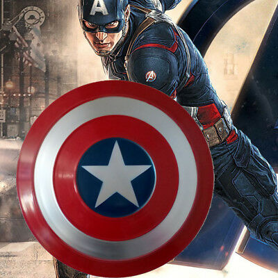 Avengers Captain America Metal Shield Iron Replica Cosplay Prop Bar Decoration
