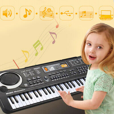 61Keys Digital Electronic Music Keyboard&Microphone LED Piano 2 Years and Younge