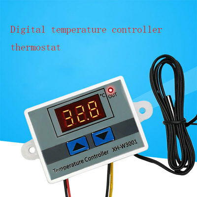 Incubator Digital Temperature Controller Thermostat Control With Switch+Probe UK