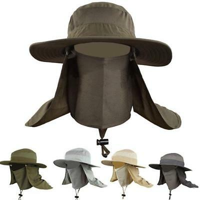 Men's Hat Summer Sun Outdoor Water Proof Uv Fisherman Fishing Caps Cover FI