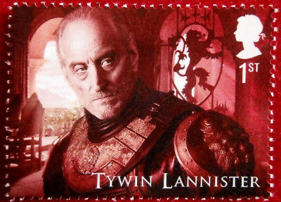 Game of Thrones: TYWIN LANNISTER - FIRST CLASS ROYAL MAIL STAMP - MINT
