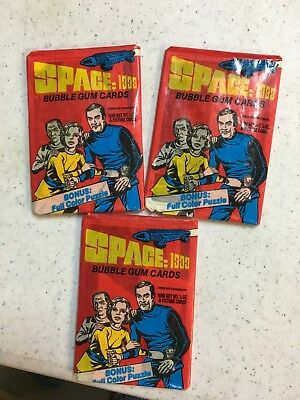 (3) 1976 Donruss Space: 1999 unopened packs