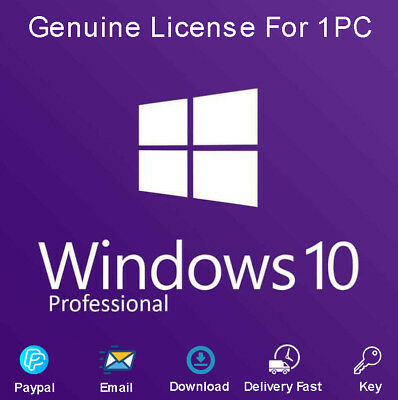 Windows 10 Pro 32-64Bit License Key Activation Code For 1 Pc Genuine