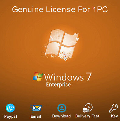 Genuine Windows 7 Enterprise 32-64bit Activation for 1 PC