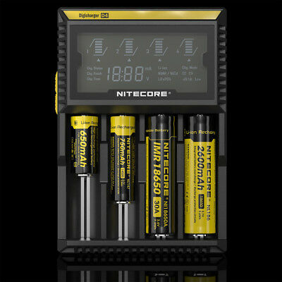 Nitecore D4 Intelligent Battery Charger for Li-ion Ni-MH Ni-CD LiFePO4 AA AAA